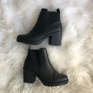 Black Ankle Combat Boot